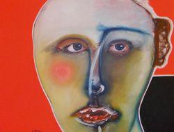 Jeune homme chauve huile sur toile 70 x 90 600