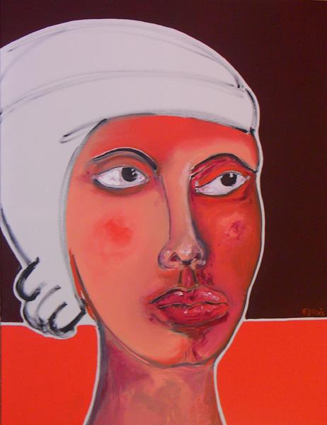 La reine des reines   huile sur toile   70 x 90   600